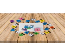 Envelop teken- en woorddeelkaartjes deel donkerblauw XL