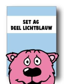 Set alle spellingkaarten A6 deel lichtblauw - 7 stuks