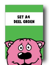 Set alle spellingkaarten A4 deel groen - 3 stuks