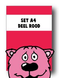 Set alle spellingkaarten A4 deel rood - 8 stuks