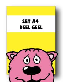 Set alle spellingkaarten A4 deel geel - 6 stuks