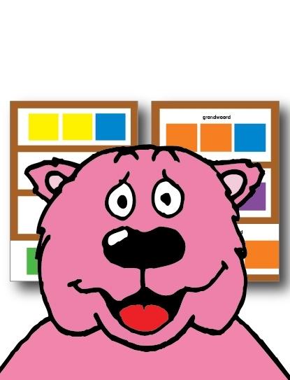 kleurencodekaart mini - dubbelzijdig