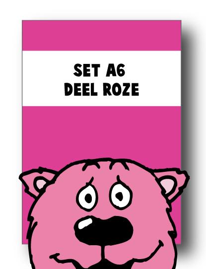 Set alle spellingkaarten A6 deel roze - 14 stuks
