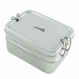 Lunchbox Dubbellaags + Mini (RVS)