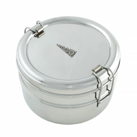Lunchbox Dubbellaags Rond (RVS)