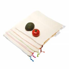 Noten & Fruitzakken XS 100% Katoen - Set van 8 (Bio)