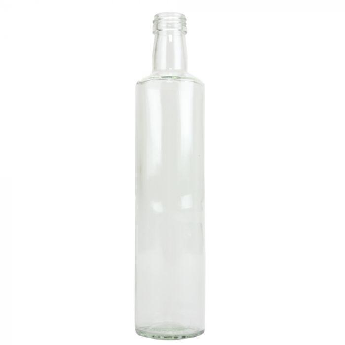 Glazen fles slank - 500 ml