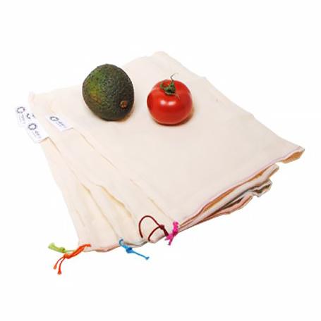 Groente & Fruitzakken S 100% Katoen - Set van 5 (Bio)