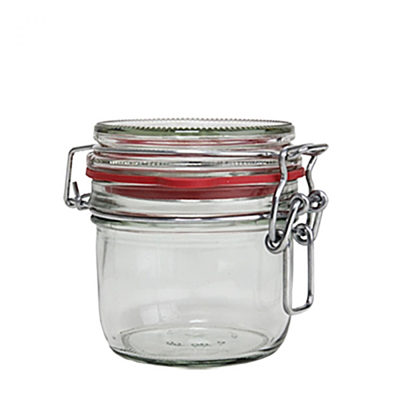 Weckpot met beugelsluiting en ring - 200 ml