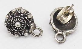 ZKO 715 Zeeuwse knop oorstekers verzilverd, made by you, met oogje om zelf iets aan te hangen