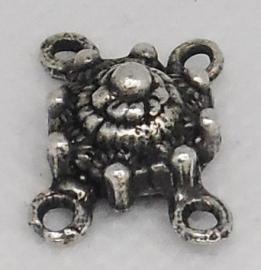 ZB 012 zeeuws knopje 1 cm doorsnede met 4 oogjes