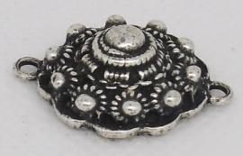 ZB 034 bolle zeeuwse knoop, ruim 2 cm doorsnede met twee ogen