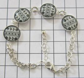 Armband met Zeeuws schortenbont