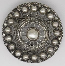 Zeeuwse knop  verzilverd riemstuk ZKG 414