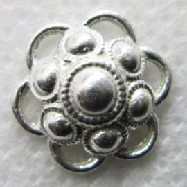 ZB204-Z Zeeuwse Knop hangertje echt Zilver