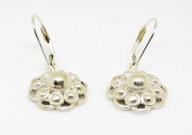 Echt zilveren oorhangers Zeeuwse knopjes