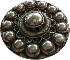 Magneet platte Zeeuwse knoop Goesverzilverd, designerskwaliteit