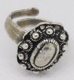 Zeeuwse knop ring ovaal klein ZKR 310