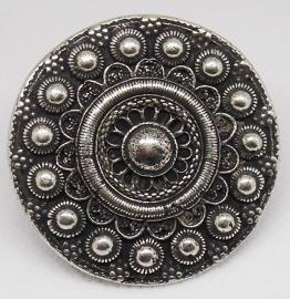 Zeeuwse knop ring zeer groot 5 cm plat fijn ZKR 318