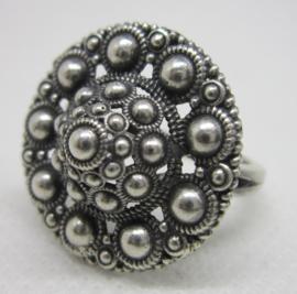 ZKR005-Z Zeeuwse Knop ring groot echt Zilver