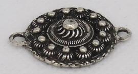 ZB 020 klassiek plat zeeuws knopje, kleine 2 cm doorsnede met twee ogen