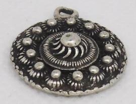 ZB 021 platte Zeeuwse knop, kleine 2 cm doorsnede