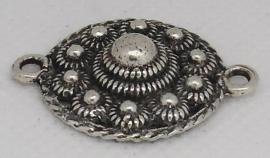 ZB 024 platte zeeuwse knoop ong 2.3 cm doorsnede met twee ogen