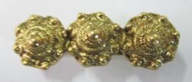vergulde zeeuwse knopjes broche 3 cm, ZKB 903-G