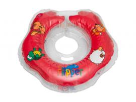 BabyFloat 0+ Zwemband - Zwemring voor om de nek - Babyswimmer - Zwemkraag -Flipper Red