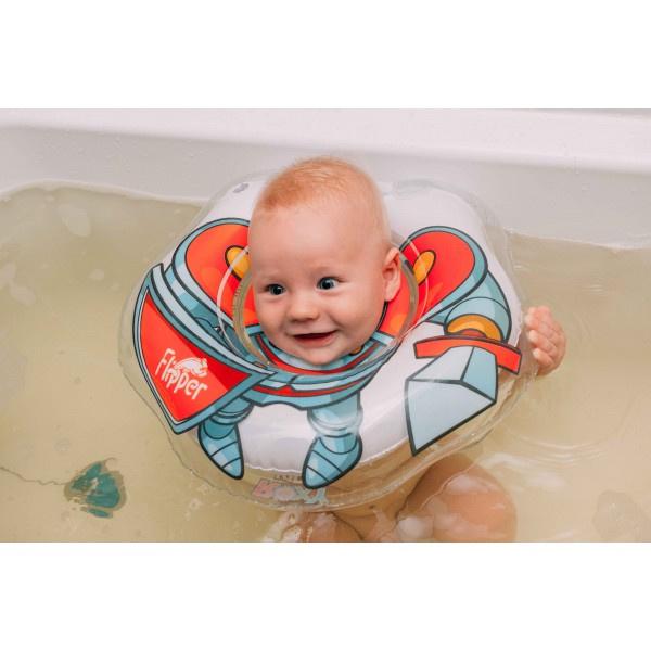 BabyFloat 0+ Zwemband - Zwemring voor om de nek - Babyswimmer - Zwemkraag -Flipper Hero Knight