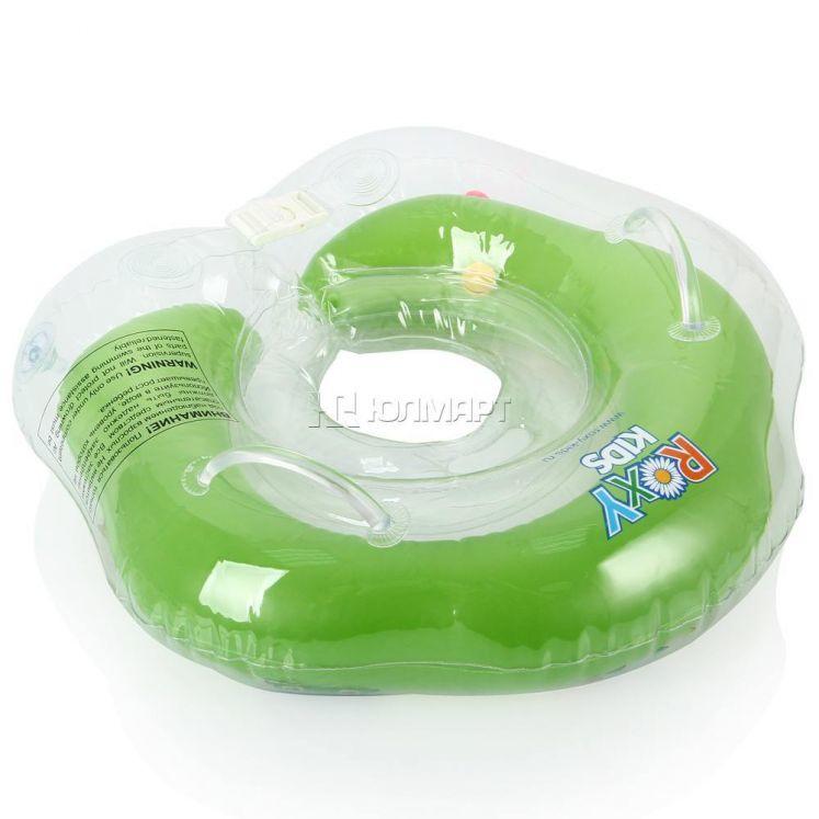 BabyFloat 0+ Zwemband - Zwemring voor om de nek - Babyswimmer - Zwemkraag -Flipper Green