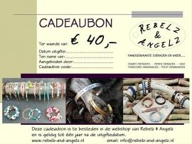 Cadeaubon t.w.v. € 40,-