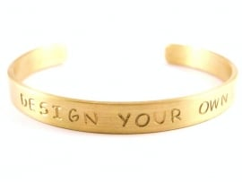 Jouw tekst in een armband - Design Your Own Gold - blanco tekst