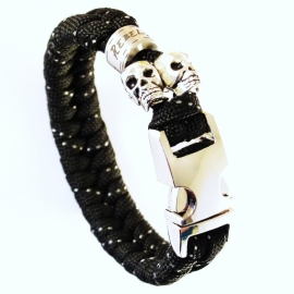 "Silver Skullz - ""Collectie"" - Paracord Armband"
