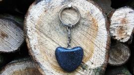 Worry Stone Black - sleutelhanger