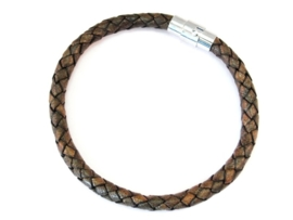 Angelz Braided Leather - Cognac