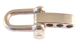 J - Zilver verstelbare harpsluiting RVS