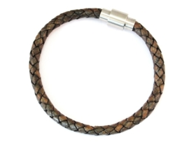 Rebelz Braided Leather Cognac