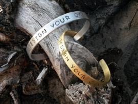 Design Your Own - ontwerp zelf je eigen unieke tekst armband vanaf € 16,95