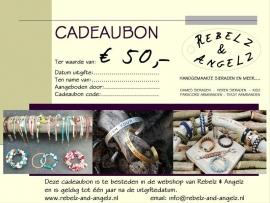 Cadeaubon t.w.v. € 50,-