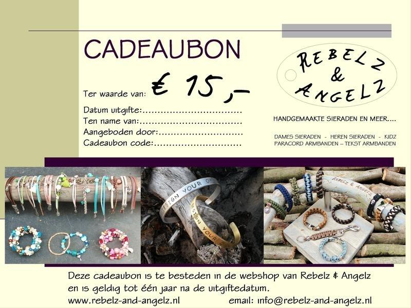 Cadeaubon t.w.v. € 15,-