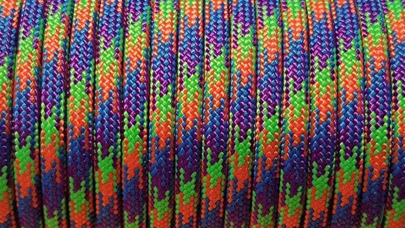 77 - Mardi Gras - Blauw + Paars + Groen + Oranje