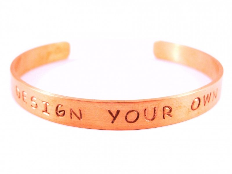 Jouw tekst in een armband - Design Your Own Rosé Gold - blanco tekst