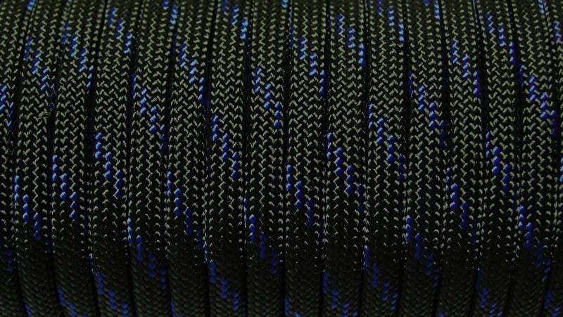 40 - Zwart + Blauwe Streep - Thin Blue Line