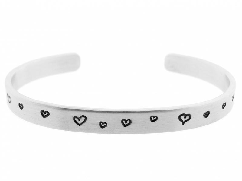 Silver Heartz - zwarte hartjes