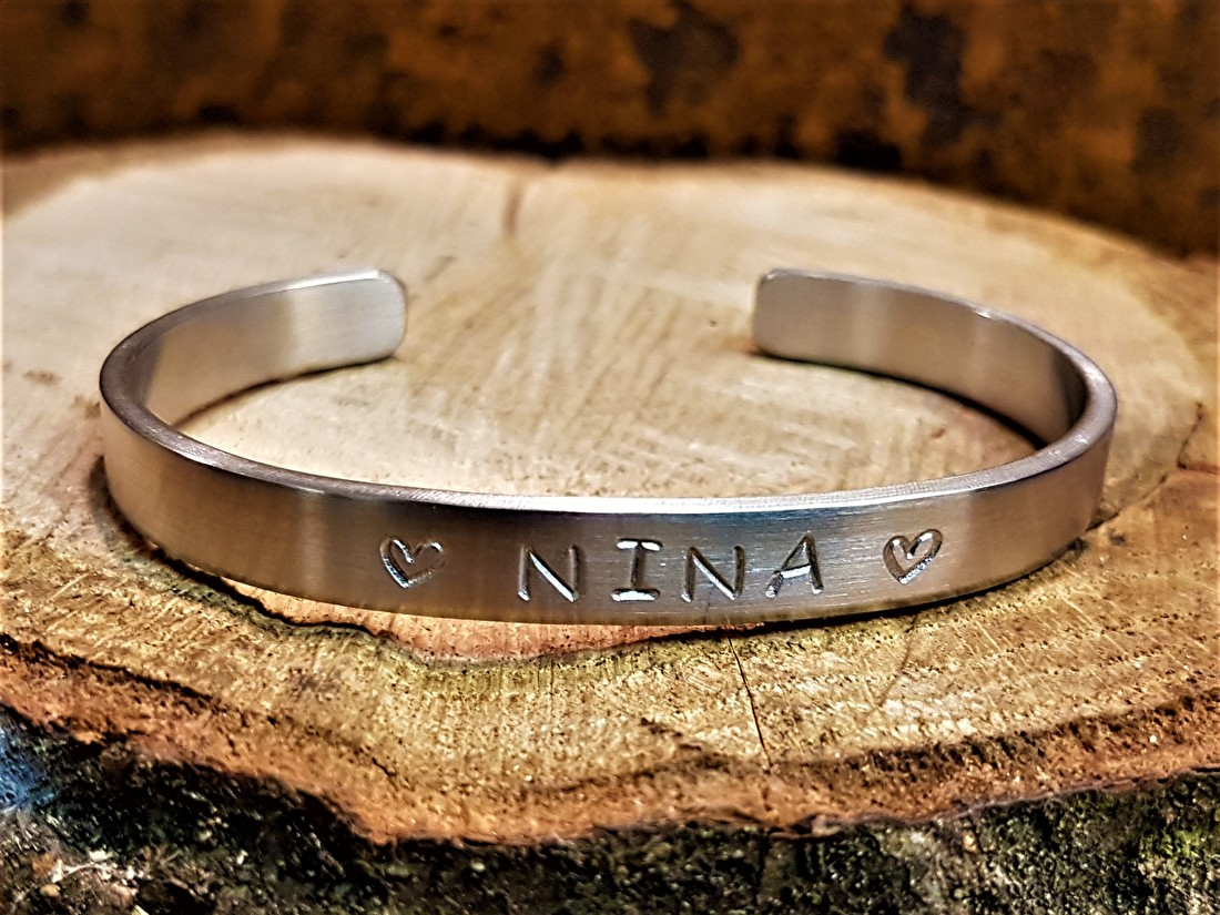Stoere metalen armband
