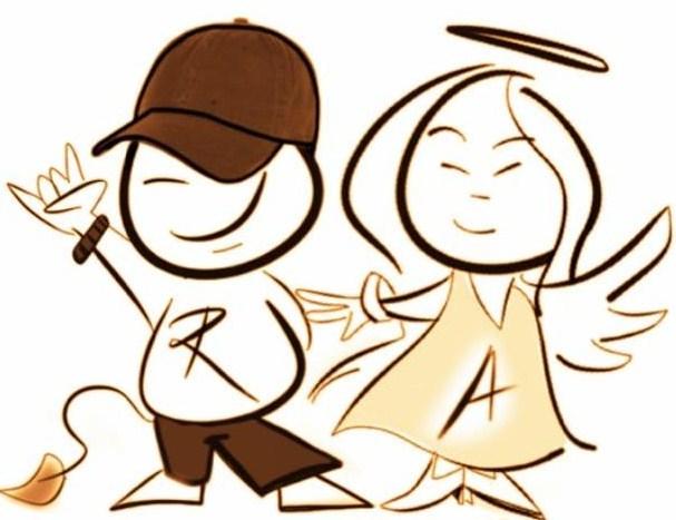 Wij zijn Rebelz & Angelz en dit is ons logo