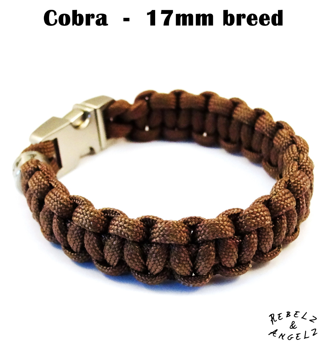 17mm brede paracord cobra weving / knoop / vlecht.