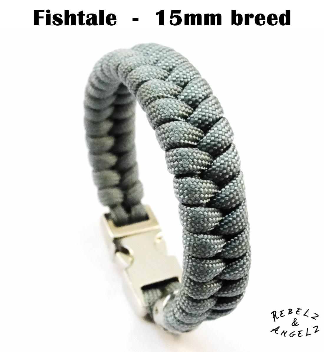 15mm brede paracord fishtale weving / knoop / vlecht.