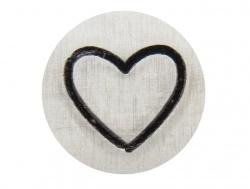 slagstempel symbool hartje 2 mm